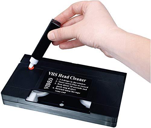 TronicXL Profi VHS Reinigungskassette für Reinigung Aufnahme Wiedergabeköpfe Kassette Set Videokopf Reinigungsband Reiniger Videokassette Reinigungsset Reinigungscassette Set Feuchtreinigung