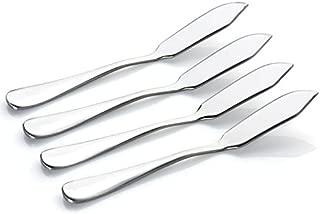 Moonmini Set of 4 Stainless Steel Blades Shining Mirror Finish Multipurpose Knife Spreader for Butter Cheese Jelly Jam Dessert