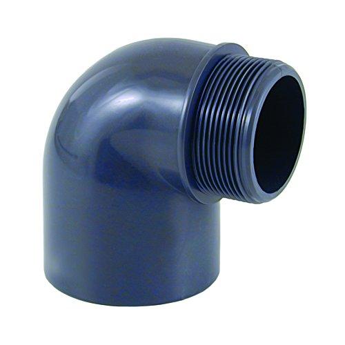 PVC - U 90° Winkel Muffe x AG 50 mm x 1 1/2