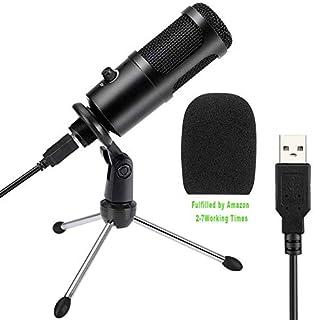PC Micrófono de Condensador Computadora,Senli USB Micrófono Plug & Play con Soporte Trípode & Filtro Pop para Grabación Vocal, Podcasting,Transmisión