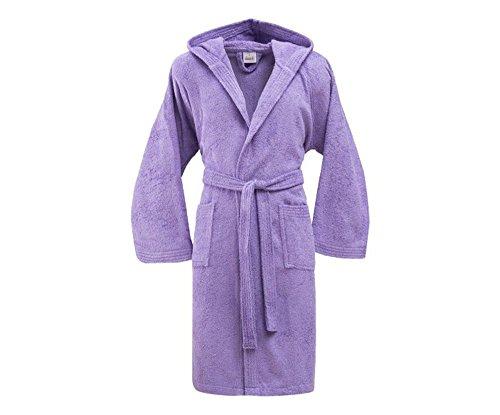 Bassetti - Albornoz con capucha para hombre/mujer, disponible en varias tallas y colores, 100% algodón violeta Amatista Taglia XL