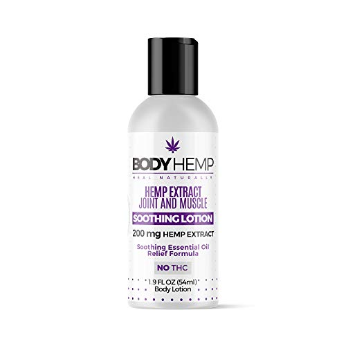 Body Hemp Soothing Joint and Muscle Lotion | 200MG All Natural Hemp Extract | All Natural Turmeric Hemp Infused Lotion | Body and Skin Revitalization Within Minutes | Hemp Lotion Made in The USA