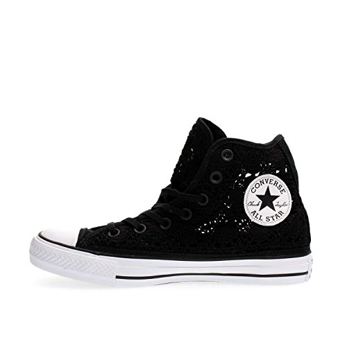 CONVERSE Chuck Taylor All Star Hi sneakers tessuto BLACK NERO 37,5