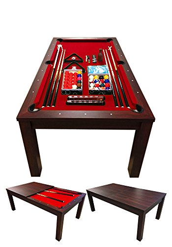 Simba Billardtisch Billard Billard-Spiel 7 FT mod. Vulcan Rot Messung 188 x 96 cm Neue