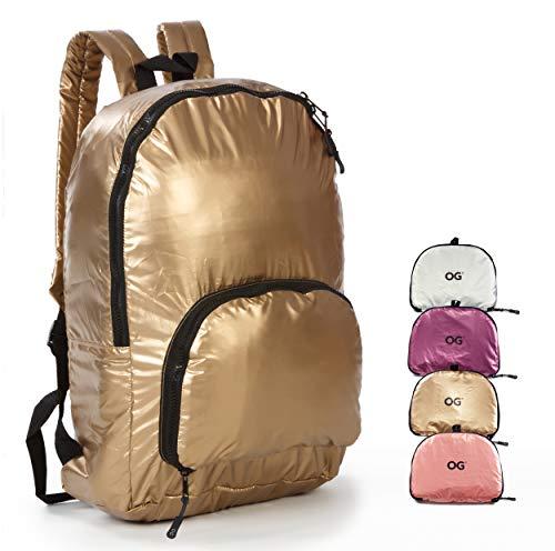 OG Online&Go Dames-rugtas Rugzak, Opvouwbaar Ultralicht 20L, Kleine Tas, Jonge-vrouwen, Waterdicht, Compact, Handtas, Boodschappentas