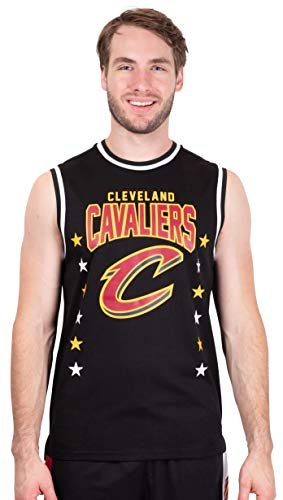 Ultra Game NBA Cleveland Cavaliers Mens Jersey Sleeveless Muscle T-Shirt, Black, XX-Large
