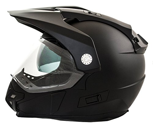 Casco Moto LEM - Trail - NEGRO MATE (M