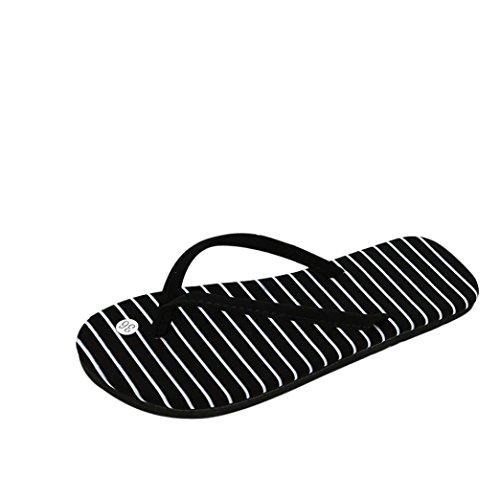 OHQ Sandalias De Mujer Sra. Chanclas Planas Café Negro Chanclas De Verano para Mujeres Zapatos Sandalias Zapatillas De Interior Y Exterior Chanclas Sandalias Romanas Elegante Barato (39, Negro#2)