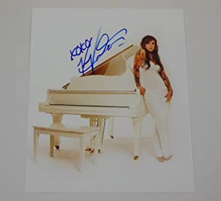 L.A. Ink Miami Ink Sexy Kat Von D Signed Autographed 8x10 Glossy Photo Loa