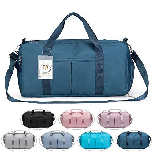 FEDUAN das Original, Sporttasche Reisetasche modisch wasserdicht mit Schuhfach Nassfach für Damen und Herren Yoga Pilates Strand Freizeit Sauna Gym-Tasche...