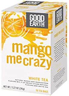 Good Earth Mango Me Crazy White Tea, 18 Count Tea Bags (Pack of 3)