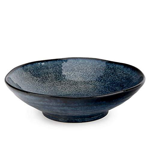 Tazón de cerámica Vajilla de Porcelana hogar Rice Soup Bowl Tazón Y Ramen Viento Plate Plato (Color : 6.5 Inches)
