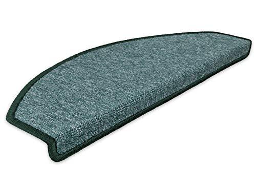 Kettelservice-Metzker Stufenmatten Treppen-Teppich Rambo 15er SparSet 17 Farben (Grün)