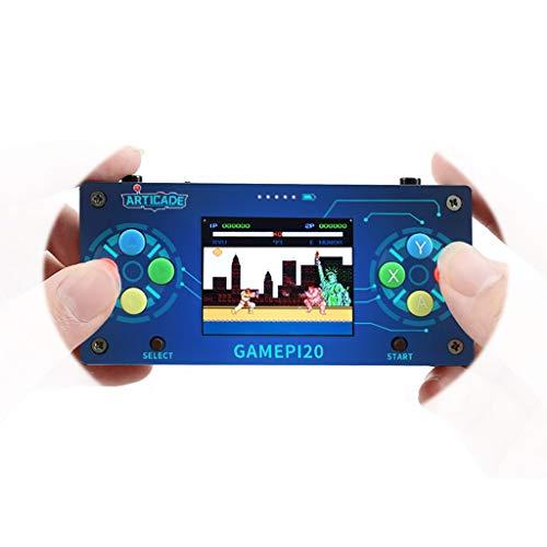 GamePi20 Mini Retro Video Game Console Based on Raspberry Pi Zero/Zero W/Zero WH 2.0inch IPS Display Onboard Speaker & Earphone Jack