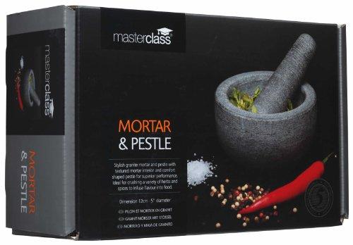 "MasterClass Granite Pestle and Mortar, 12 x 9 cm (4.5"" x 3.5"") - Grey"