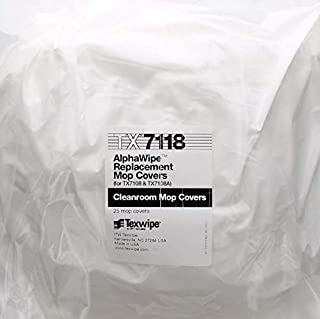 ITW Texwipe Alphamop Foam / Polyester Mop Cover & Foam Pad - 15 in Overall Length - TX7118 [PRICE is per BAG] by ITW Texwipe