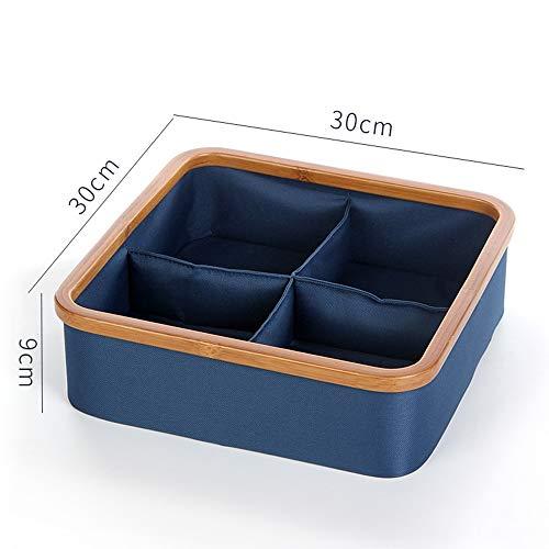Planken DUO rekken doek opbergdoos kast dressoir lade Divider Organizer Basket Bins voor ondergoed Bras, blauwe rekken