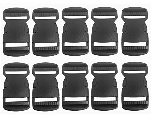 Hebillas de plástico,10 clips de hebilla de liberación lateral rápida,hebillas de repuesto para mochila para correas de equipaje,collar para mascotas, reparación de mochila (35 mm)