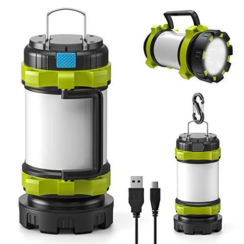 LETMY Lampada Campeggio Ricaricabile, Lampade da Campeggio 3000mAh Power Bank, 6...