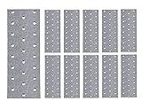 (10 unidades) Soporte de acero plano para reparación de 160mm x 60mm