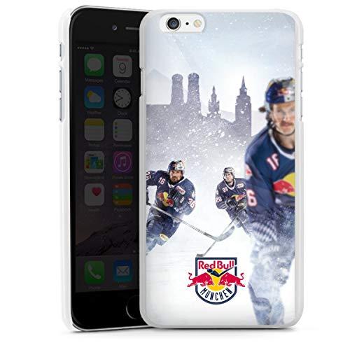 DeinDesign Hard Case kompatibel mit Apple iPhone 6 Plus Schutzhülle weiß Smartphone Backcover EHC Red Bull München Offizielles Lizenzprodukt Eishockey