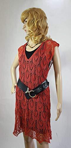 Tunika-Kleid Lace Minikleid Ajour-Tunika Mehrfachgröße S/M/L handgestrickt