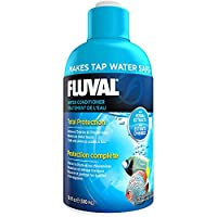 Reduces Stress for Fish Complete tap water conditioner Improves aquatic environments for tropical fish Fluval Water Conditioner also coats scales and fins to protect against scrapes and cuts.