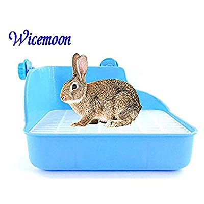 Wicemoon Pet Clean Toilet Litter Tray Corner Toilet House for Puppy Rabbit Cats Small Animals Double Mesh Potty Anti-spray Urine from Wicemoon