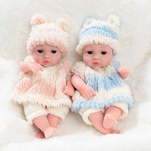 Muñecas De Bebé De Silicona Suave Muñeca De Crianza Divertida Muñeca Recién Nacida De Tela Suave - Muñeca De Niña/Niño,Twin(B)