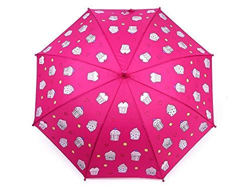 1stück Pink Cupcake Farbwechsel Regenschirm Für Kinder, Cupcakes, Monster, Autos, Regenschirme Und Regenmäntel, Regenjacken, Modisches Zubeh