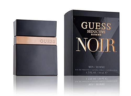 Guess Seductive Homme Noir Cologne Eau de Toilette Spray for Men, 3.4 Ounce