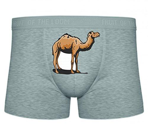 Druckerlebnis24 Boxershort Kamel schaut in Wüste Afrika Wildnis S- XXL Sexy Unterhose Slip Shorts