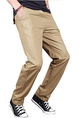 SANMIO Jogger Cargo Herren Chino Jeans Hose Herbst Winter Stretch Freitzeithose (Khaki, M)