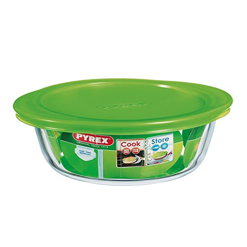 Pyrex Cook and Store 4 in 1 Round Dish 20 cm With Lid 1 Litre