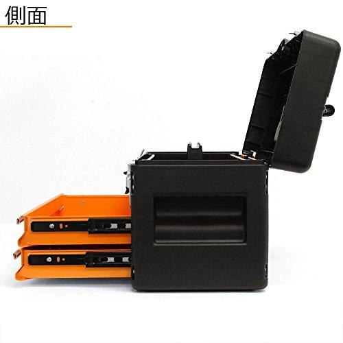ミナト3段ツールボックスTB-30(引き出し付き/高級ベアリング付きレール)(オレンジ(OG))