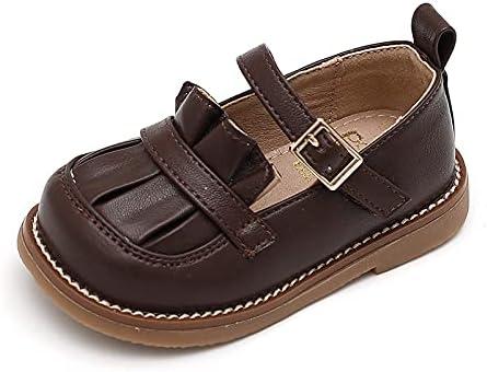 NC Autumn Solid Color Princess Style Toddler Shoes 21码/内长约13.5cm 棕色