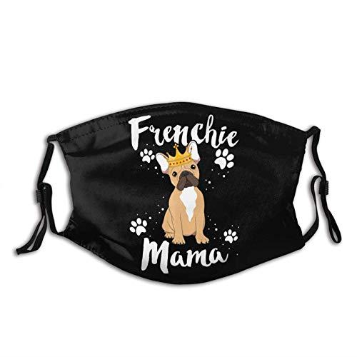 French Bulldog Frenchie Mama Washable Face Mask for Women Men Washable Anti Dust Bandanas Sports Fashion Neck Gaiter