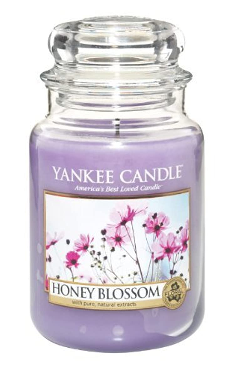 成長するゴールド傭兵Yankee Candle Honey Blossom 22-Ounce Jar Candle, Large by Yankee Candle [並行輸入品]