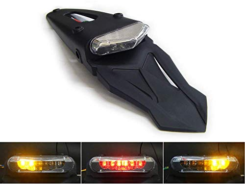 Moto LED Semáforo Piloto Trasero con Intermitentes Integrados Homologado para Guardabarros Trasero/Guardabarros