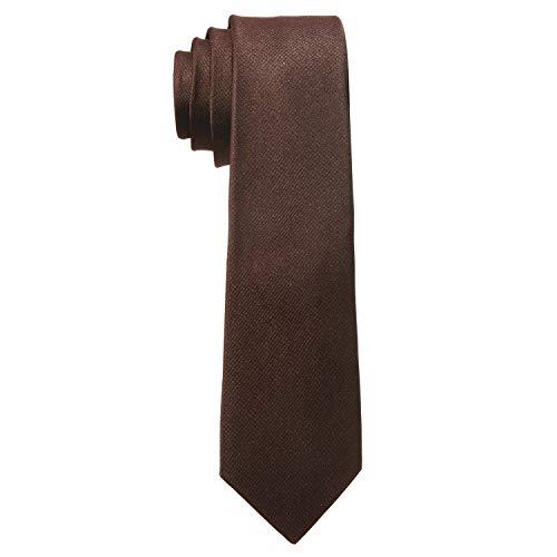 MASADA Corbata para Hombre elaborada a mano y con gran esmero 6 cm de ancho - Marrón
