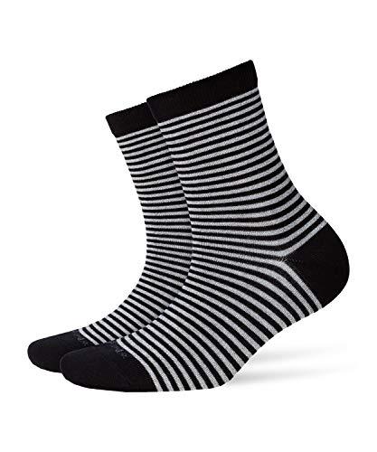 BURLINGTON Damen Socken Ladywell Ringlet - Baumwollmischung, 1 Paar, Schwarz (Black 3000), Größe: 36-41