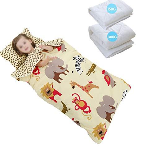HYFZY Quatre Saisons Coton bébé Sac de Couchage Automne et Hiver Double épaississement Anti-Kick,Beige,*78 * 150