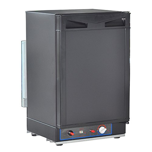 SMAD AC/DC/LPG Compact Refrigerator Propane Gas RV Fridge,1.4 cu. ft, Black