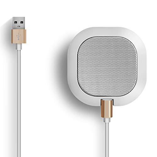 SiZHENG Alta sensibilidad del micrófono del Ordenador omnidireccional USB -42dB Plug Play Mesa portátil para Windows, computadora, Escritorio, reuniones Blanco Blanco