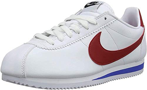 NIKE Classic Cortez Leather, Zapatillas para Mujer, Blanco (White/Varsity Red-Varsity Royal 103), 40 EU