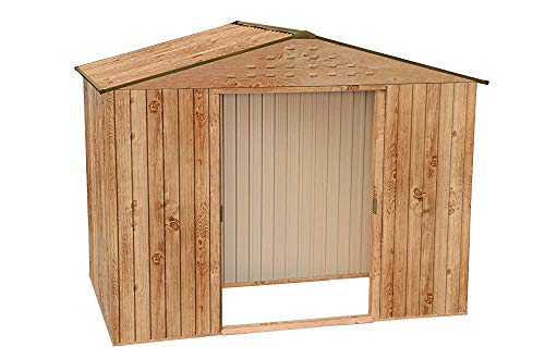Allwetter-Outdoor-heißer galvanisierter Außen-Metall-Speicher-Gartenspeicher,Brown