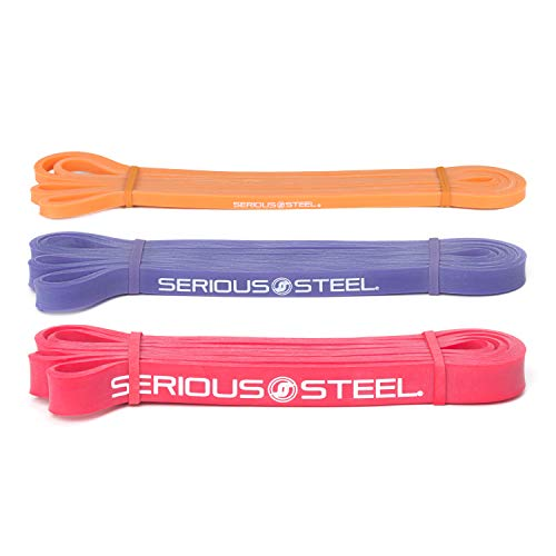 Serious Steel Fitness Intermediate Crossfit Resistance Band, Pull-up Package #0, 1, 2 Band Set (5-50 lbs)