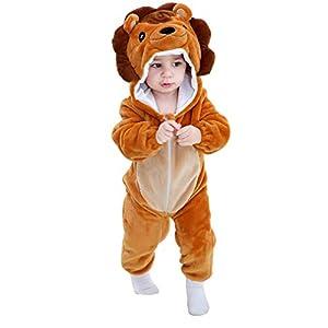 MICHLEY Bebé Mameluco Niños y Niñas Animales de Pelele Pijama León por 19-24 Meses