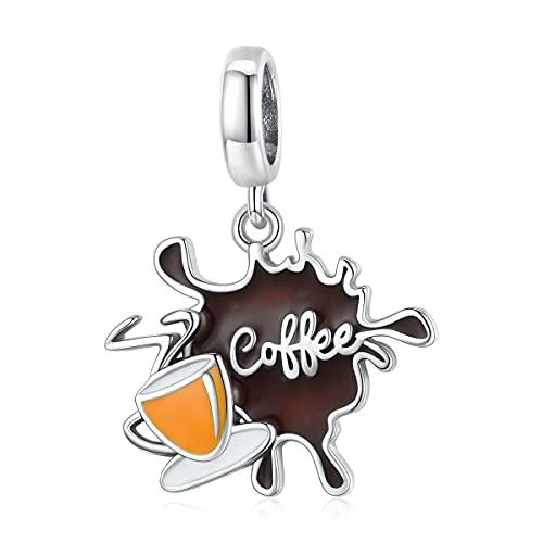 NewL NewL colgante tazas de café magia vertiendo salpicaduras tazas de café divertido taza de café escultura arte decoración DIY artesanía para pulsera