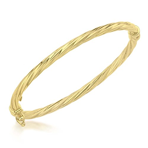 Carissima Gold Children's 9 ct Yellow Gold Twist Oval Baby Bangle